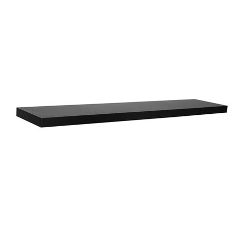 Rubbermaid 12 In X 48 In Black Shelf Fg4b8100bla The Floating Shelves Black