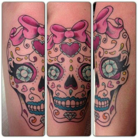 feminine sugar skull tattoo designs my girly sugar skull skulls