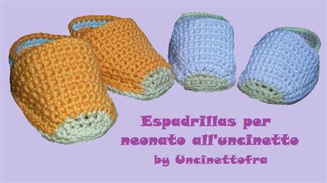 per neonato scarpine espadrillas per neonato all uncinetto tutorial
