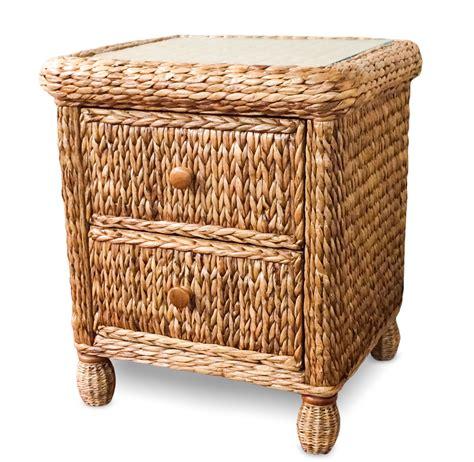 Wicker Nightstand seagrass nightstand on sale miramar