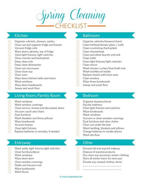 cleaning checklist printable cleaning checklist cleaning checklist