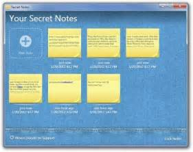 create manage password protected post it notes with