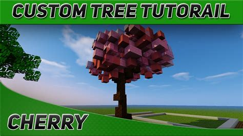 minecraft tree tutorial minecraft tree tutorial cherry blossom