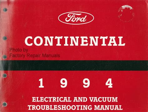 electric and cars manual 1994 lincoln continental on board diagnostic system 1994 lincoln continental electrical vacuum troubleshooting manual original ford factory