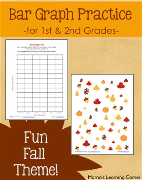 theme quiz 2nd grade bar graph practice with a fun fall theme mamas learning
