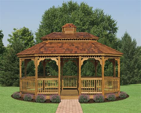 gazebo wooden wood oval gazebos country shedsnorth country sheds