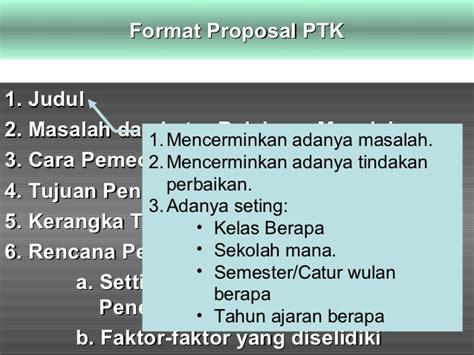 format proposal biasa proposal ptk
