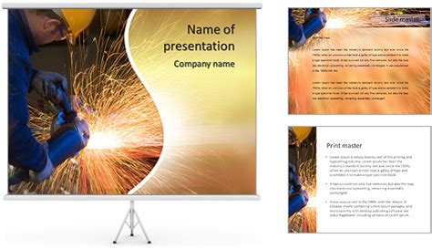 welding powerpoint template backgrounds id 0000007167