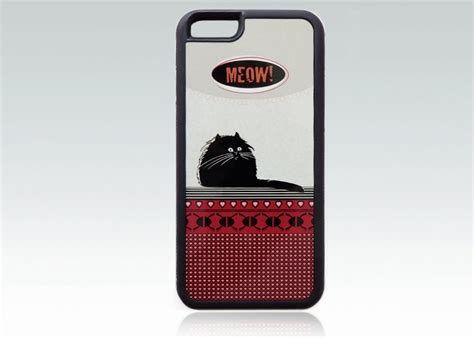 Meow Iphone 6 black cat iphone 6 meow iphone 6s by happystripedcats