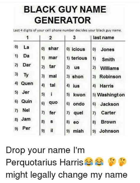 Meme Name Generator - 25 best memes about black guys name black guys name memes