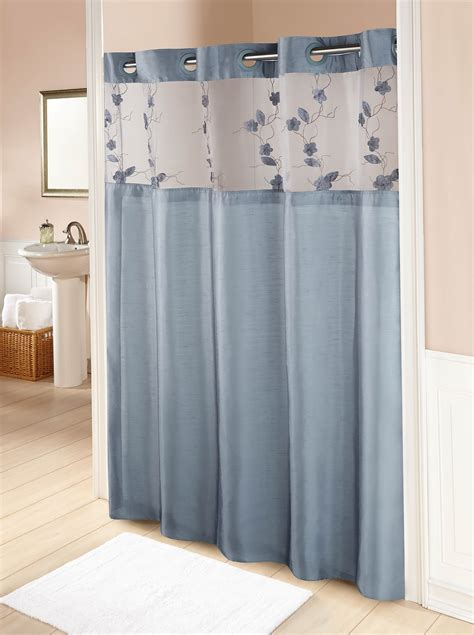 blue bathroom curtains grey and blue shower curtains home design ideas