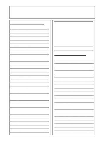 newspaper layout teaching resources newspaper template newspaper teaching resources and