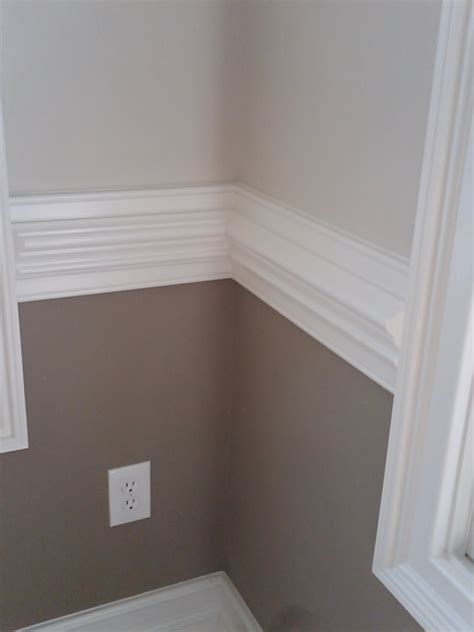 two tone walls with chair rail discount moulding discount kitchen direct cabinets