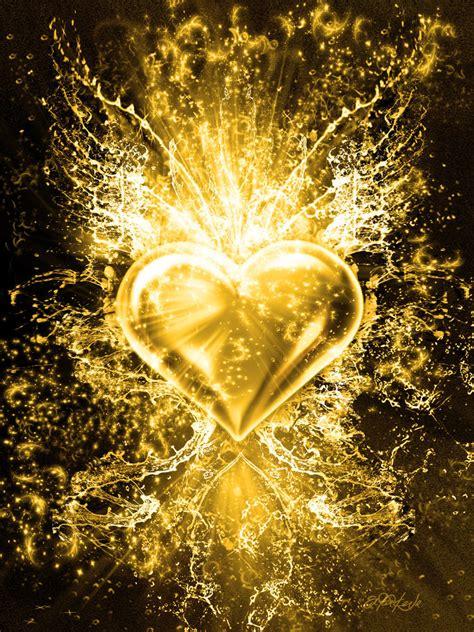 golden heart  artnaitve  deviantart