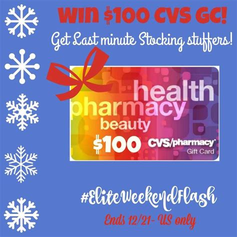 Cvs Gift Card Number - 100 cvs gift card weekend flash giveaway