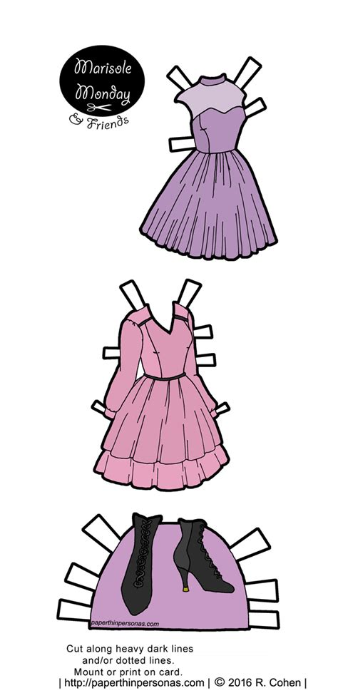 printable paper doll dresses marisole monday friends archives paper thin personas