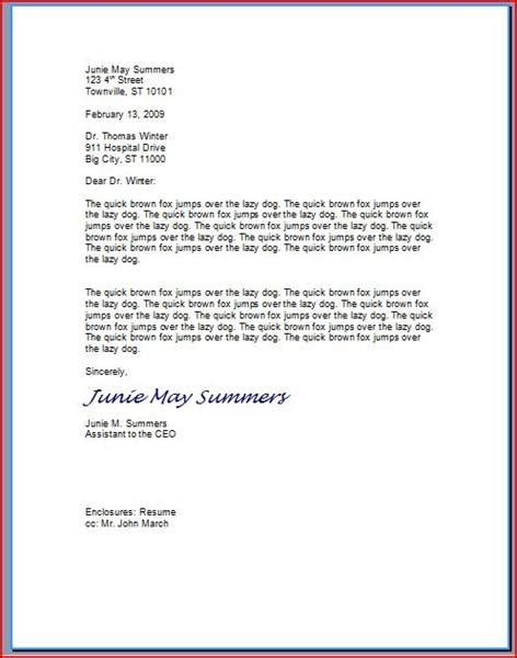 proper business letter block format exle of a block business letter format cover letter