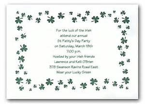 Nautical Themed St Birthday Party - luck of the irish party invitations by invitation