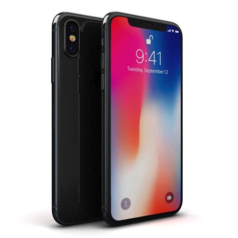 3 Iphone X Models by Apple Iphone X Space 3d Model Turbosquid 1223404