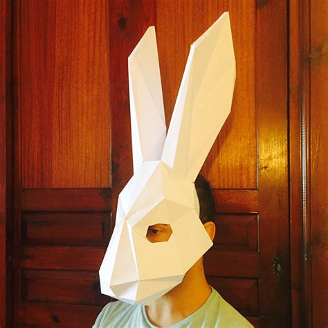 pattern paper mask make your rabbit mask from paper pdf pattern mask polygon