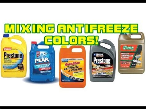 antifreeze color can you mix antifreeze colors the real
