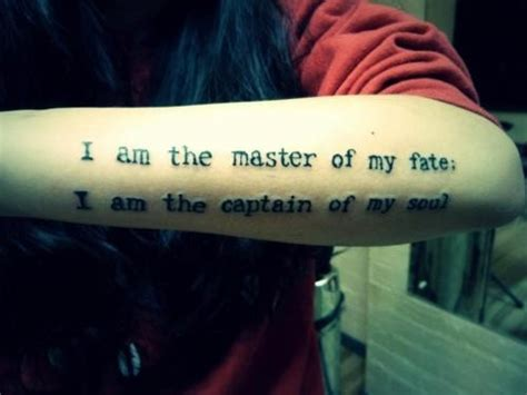 invictus poem tattoo literary from the poem invictus
