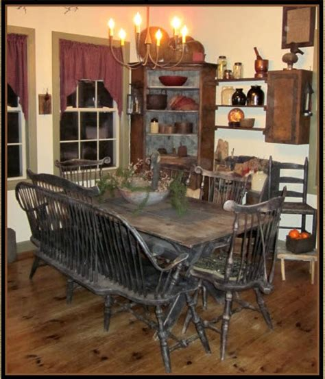 Primitive Dining Room Tables Primitive Dining Room Primitive Decor