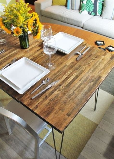 diy dining table ikea legs diy d dining table with leaves using ikea countertop and