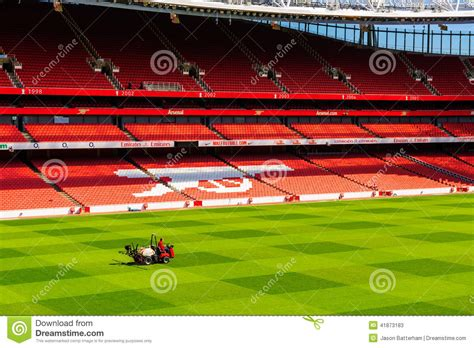 emirates queen commercial pitch view inside the emirates stadium editorial stock