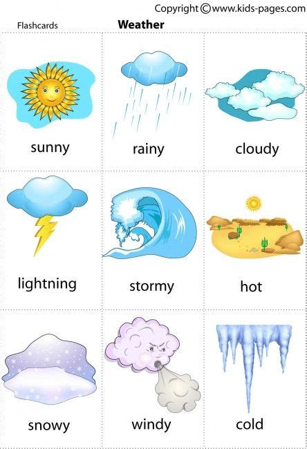 libro the weather experiment the weather printable for poster or game cards a great resource to let the kids have visual aids on