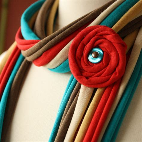 Handmade Fabric Crafts - fabric scarves and necklaces by pronta handmade jewlery