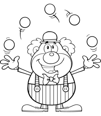 printable juggling instructions disegno di pagliaccio giocoliere da colorare disegni da