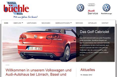 Audi Binzen by Webdesign F 252 R Das Autohaus B 252 Chle In Binzen Kaiser Grafix De