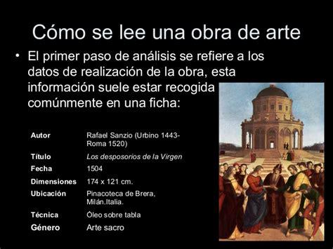 Imagenes Artisticas Con Datos | gui 243 n b 225 sico de an 225 lisis de obras art 237 sticas