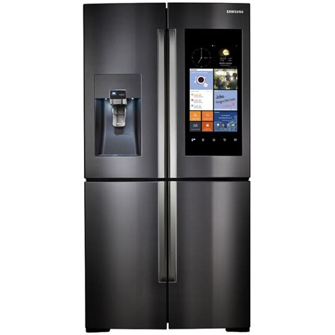 samsung refrigerators door shop samsung family hub 22 1 cu ft 4 door counter depth