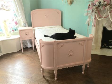 omg antique twin bed frame shabby chic distressed pink vintage