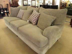 chenille sofa khaki grey ribbed chenille sofa sold ballard consignment
