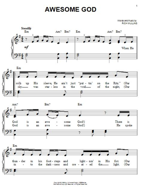 printable lyrics to everything is awesome awesome god search results sheet music direct