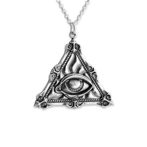 illuminati necklace 925 sterling silver necklace illuminati eye