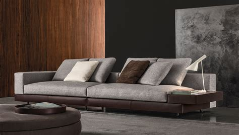 Leather Livingroom Furniture white by minotti design rodolfo dordoni