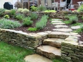 boulder landscaping boulder steps and wall traditional landscape