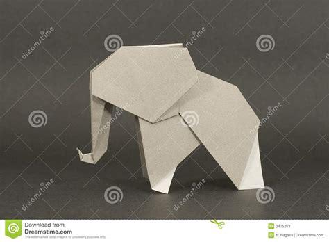 De Origami - de olifant de origami stock afbeelding afbeelding