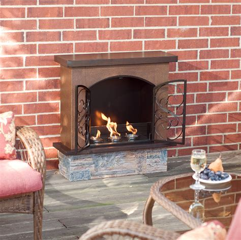 Gel Outdoor Fireplace by Electric Fireplaces From Portablefireplace