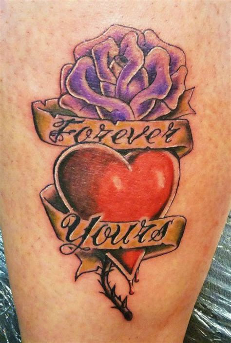 heart shaped rose tattoo 25 awesome shape designs collections