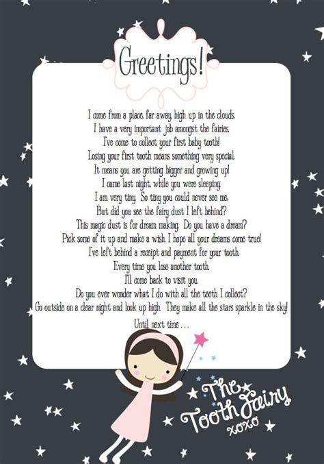 free printable letters to the tooth fairy making life whimsical tooth fairy free letter printable