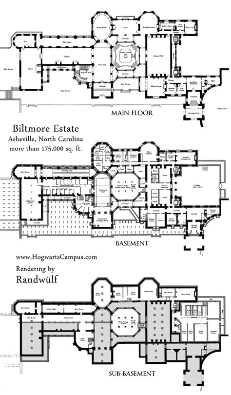 mansion floor plans castle biltmore estate mansion floor plan lower 3 floors we