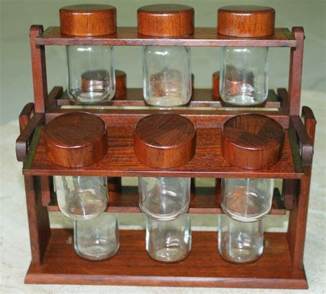 Table Spice Rack Teak Carousel Spice Rack Table Top Or Wall