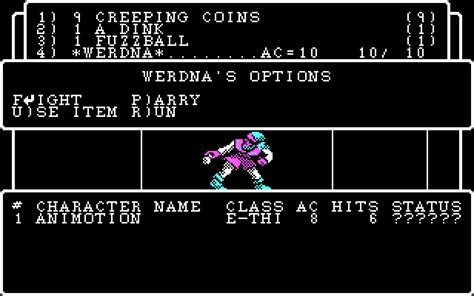Wizardry Part I wizardry 4 the return of werdna rpg for dos