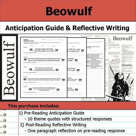 theme quotes beowulf beowulf anticipation guide reflection