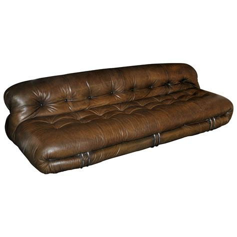 tan brown leather sofa 1970 s tan brown leather sofa by tobia scarpa at 1stdibs